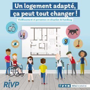 La RIVP réalise de nombreux travaux d'adaptation de logements pour les locataires âgées ou handicapés.