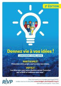 Affiche du lancement de notre second budget participatif