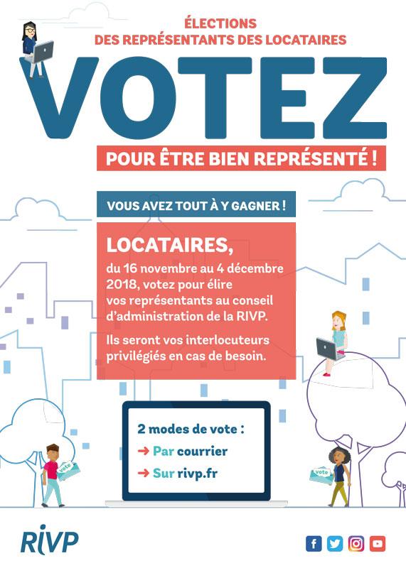 Les élections des représentants de locataires se déroulent du 16 novembre au 4 décembre 2018.