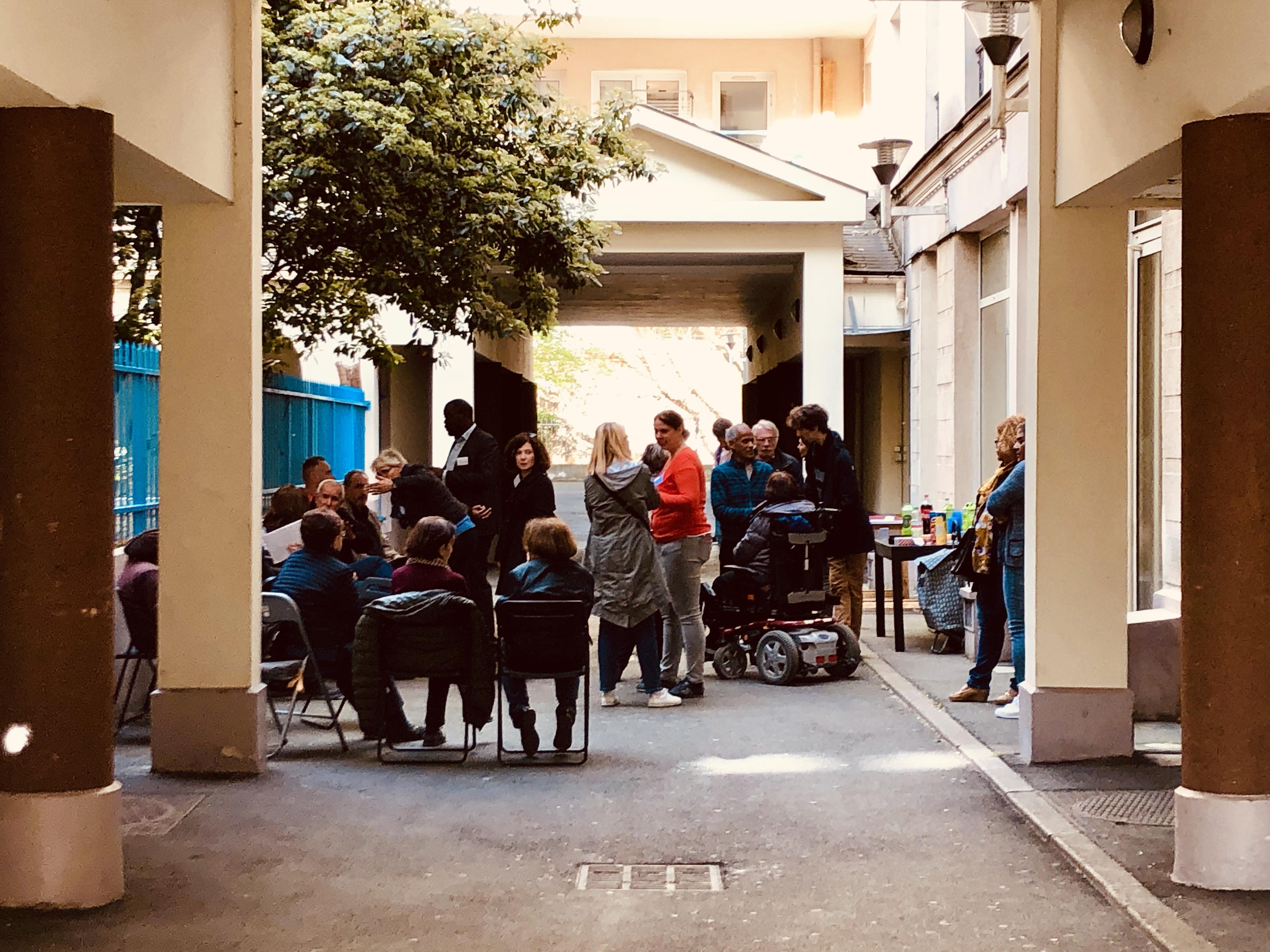 L'agence Chemin Vert réalise régulièrement des rencontres RIVP.