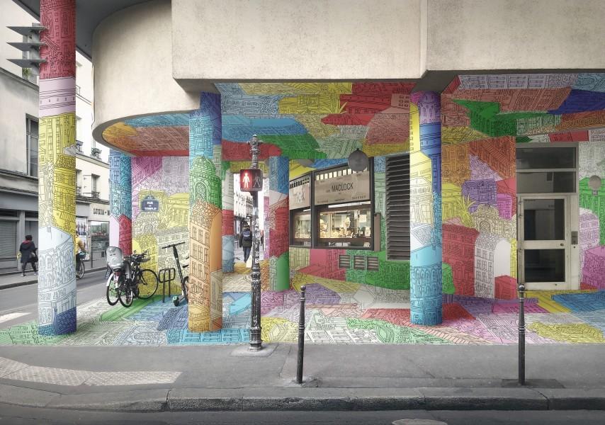 L'oeuvre au 95 rue du Temple sera achevé en septembre.