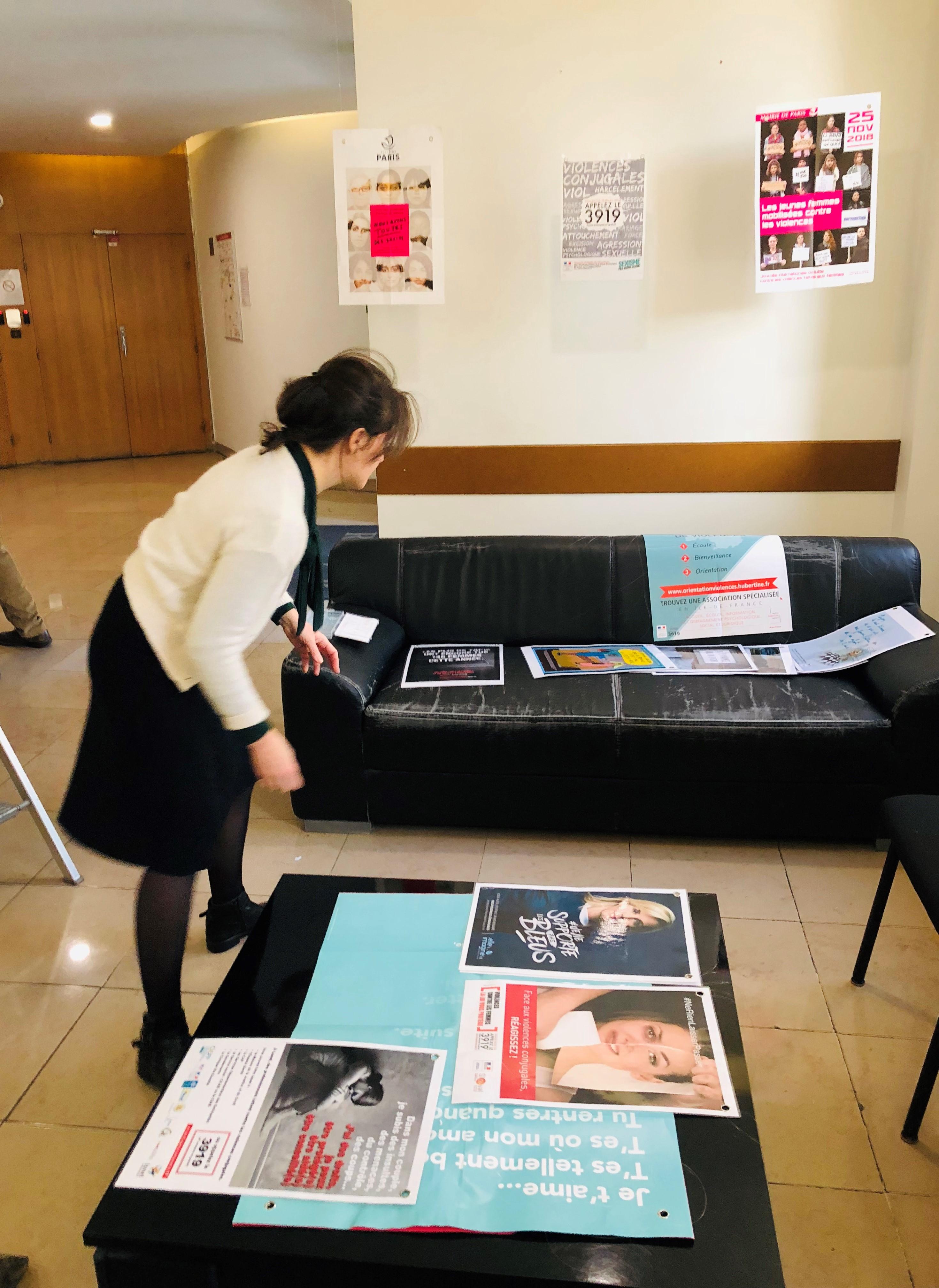 Les salariés RIVP ont présenté une expo pour mieux informer le public sur le sujet des violences conjugales.